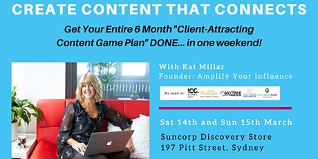 Create Content That Connects (Sydney 2-Day Workshop) tickets