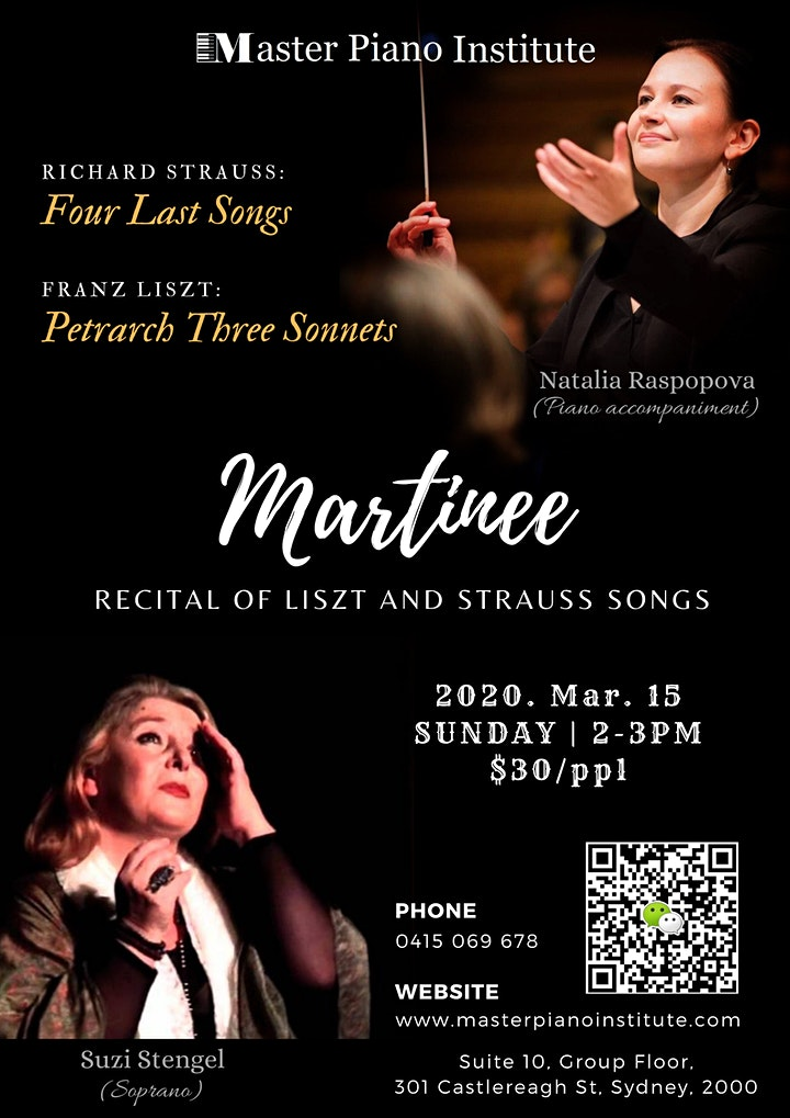 Matinee - Recital of Liszt and Strauss songs image