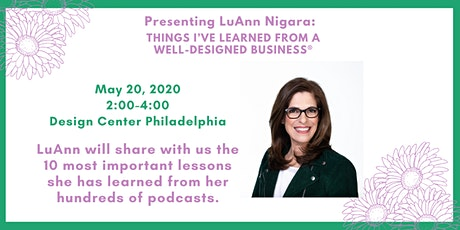 LuAnn Nigara: Things I've Learned from A Well-Designed Business® tickets
