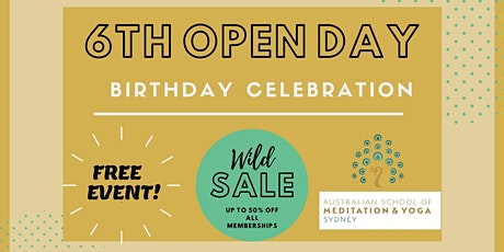 OPEN DAY - 6th Birthday celebration tickets