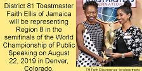 A visit and speech by the World Championship Semifinalist Faith Ellis from Jamaica tickets