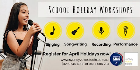 Day 4: Record Your Own Song! - APRIL School Holidays tickets