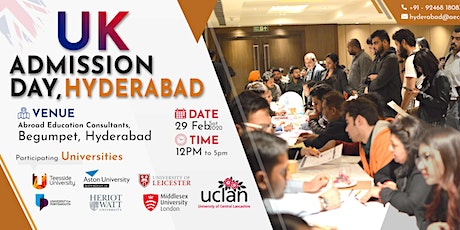 UK ADMISSION DAY - 29nd FEB (SATURDAY) tickets