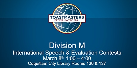 Toastmasters International Division M Speech and Evaluation Contest tickets