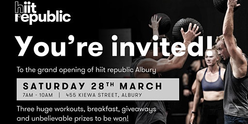 Grand Opening hiit republic Albury