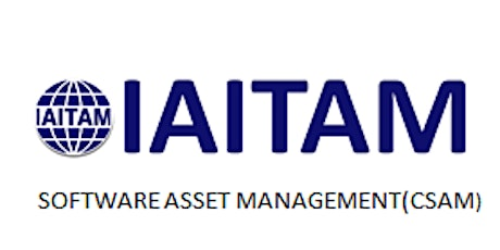 IAITAM Software Asset Management (CSAM) 2 Days Training in Redwood City, CA tickets
