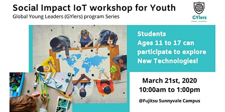 Social Impact IoT workshop for Youth tickets
