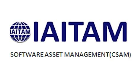 IAITAM Software Asset Management (CSAM) 2 Days Training in Tustin, CA tickets