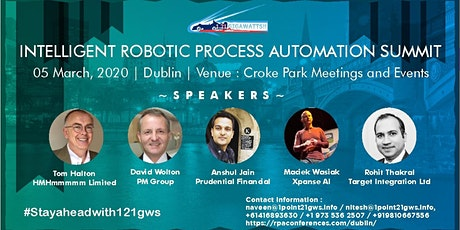 Intelligent Robotic Process Automation | Dublin | 05 March 2020 tickets