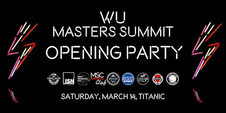 Masters Summit Opening Party Tickets