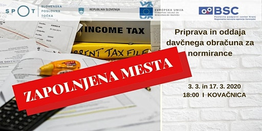 Priprava in oddaja davčnega obračuna za normirance