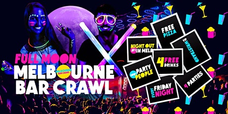 Melbourne Bar Crawl - Friday Night (Includes Full Moon Party Entry) tickets