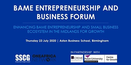 BAME Entrepreneurship and Business Forum tickets
