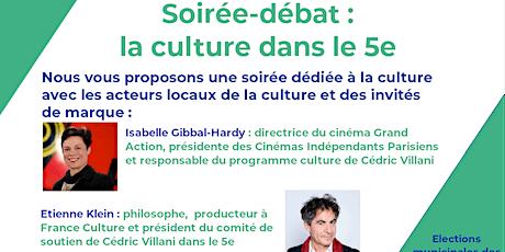 Soirée -débat autour de la culture dans le 5e billets