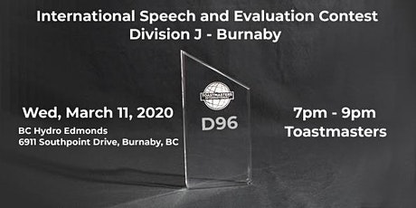 Division J - Toastmasters International Speech and Evaluation Contest tickets
