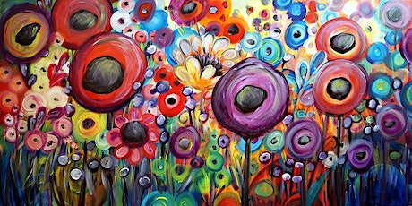 Paint & Sip Afternoon - Painting Funky Flowers @ CHANCELLOR TAVERN tickets