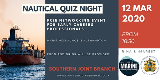 Early Career Professionals Networking Event and Nautical Quiz Night