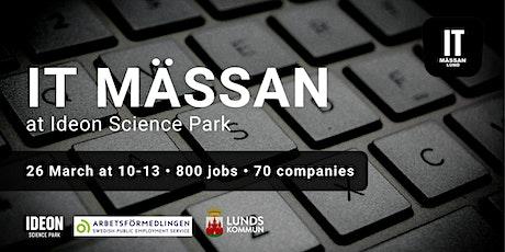 IT Mässan at Ideon Science Park with Arbetsförmedlingen tickets