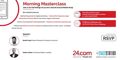 Morning Masterclass // 24.com's second annual Mobile Study // Johannesburg tickets