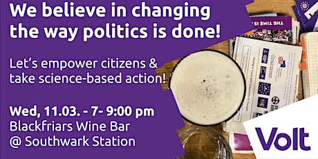 Pints and Politics - London tickets