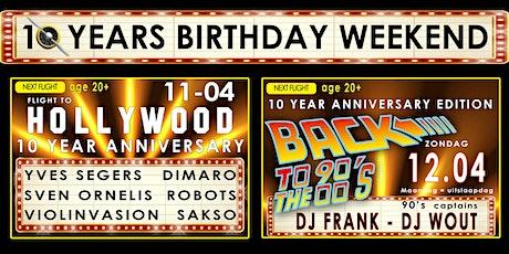 10 years Flight 90 Opwijk - Birthday weekend 11 & 12 april tickets