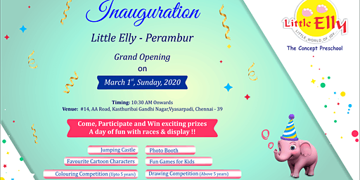 Admissions open artwork with Little Elly DayCare