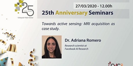 25th Anniversary Seminar - Dr. Adriana Romero entradas