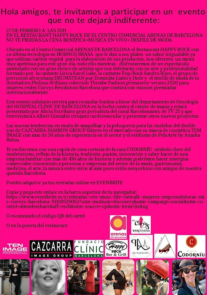Imagen de #CEN@ MUS¡C LIFE &CATWALK  MUJERES EMPRENDEDORAS Mis. CURVYS BARCELONA