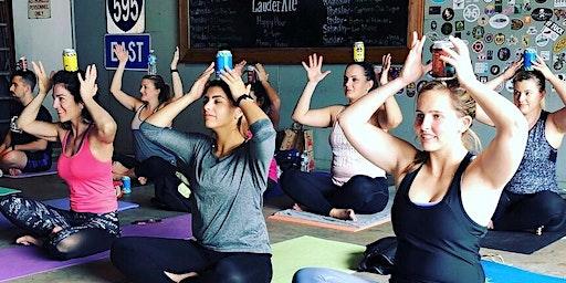 Ales & Asanas Yoga at LauderAle Brewery 3/8