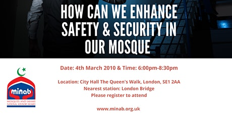 Enhancing Safety & Security in Mosques tickets