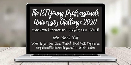 IET Young Professionals University Challenge Event 2020 tickets