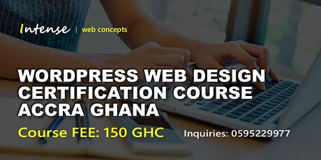WORDPRESS WEB DESIGN CERTIFICATION COURSE ACCRA tickets