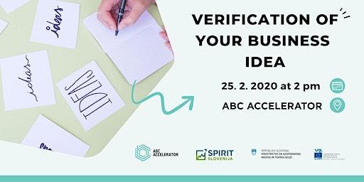 Verification of your business idea
