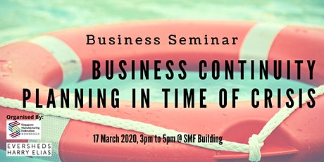 Business Continuity Planning & Management in Time of Crisis tickets