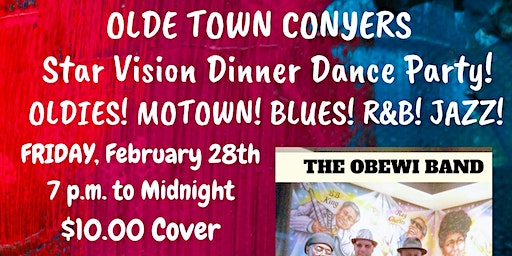 Olde Town Conyers Dinner Dance Party Star Vision Live Music The OBEWI Band