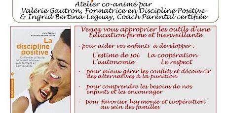 Cycle d'ateliers parentalité positive Tickets