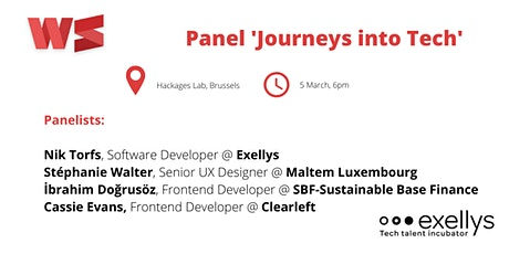 Panel 'Journeys into Tech' and networking billets