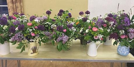 Handtie bouquet & jug arrangement Flower workshop tickets
