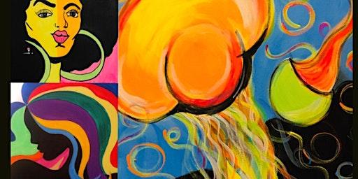 "Wine & Design ""Glow"" Paint & Sip pARTy Featuring Sounds by DJ BLENDZ!"