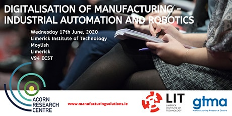 Conference on Digitalisation of Manufacturing tickets