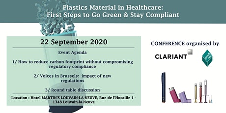 Plastics Materials in Healthcare: First Steps to Go Green & Stay Compliant tickets