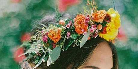 Festival Flower Crown workshop & Takeaway flower crown kit tickets