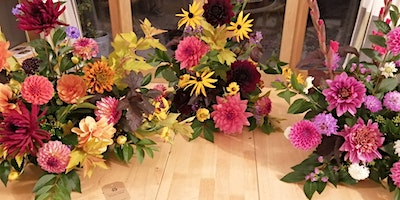 Tall Dahlia vase flower workshop