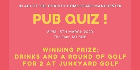 Pub Quiz for HomeStart Manchester tickets