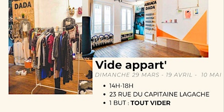 VIDE DADA -TOUT DOIT DISPARAITRE - SPORT BEAUTY HOME ELECTROMENAGER tickets