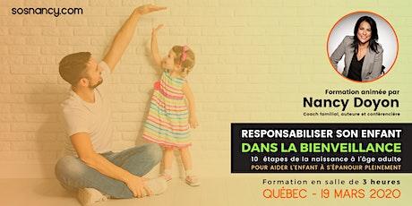 Formation :  Responsabiliser son enfant dans la bienveillance! billets