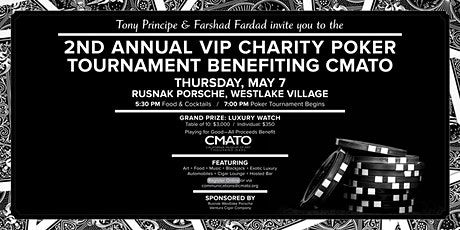 VIP Charity Poker Tournament hosted by Tony Principe & Farshad Fardad tickets