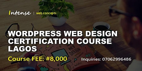 WORDPRESS WEB DESIGN CERTIFICATION COURSE LAGOS tickets