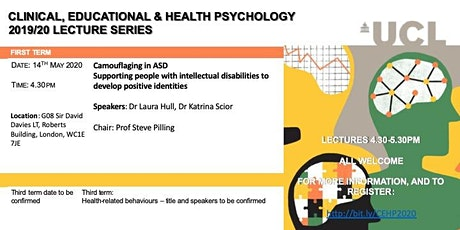 Departmental Lecture Series for Clinical, Educational & Health Psychology tickets