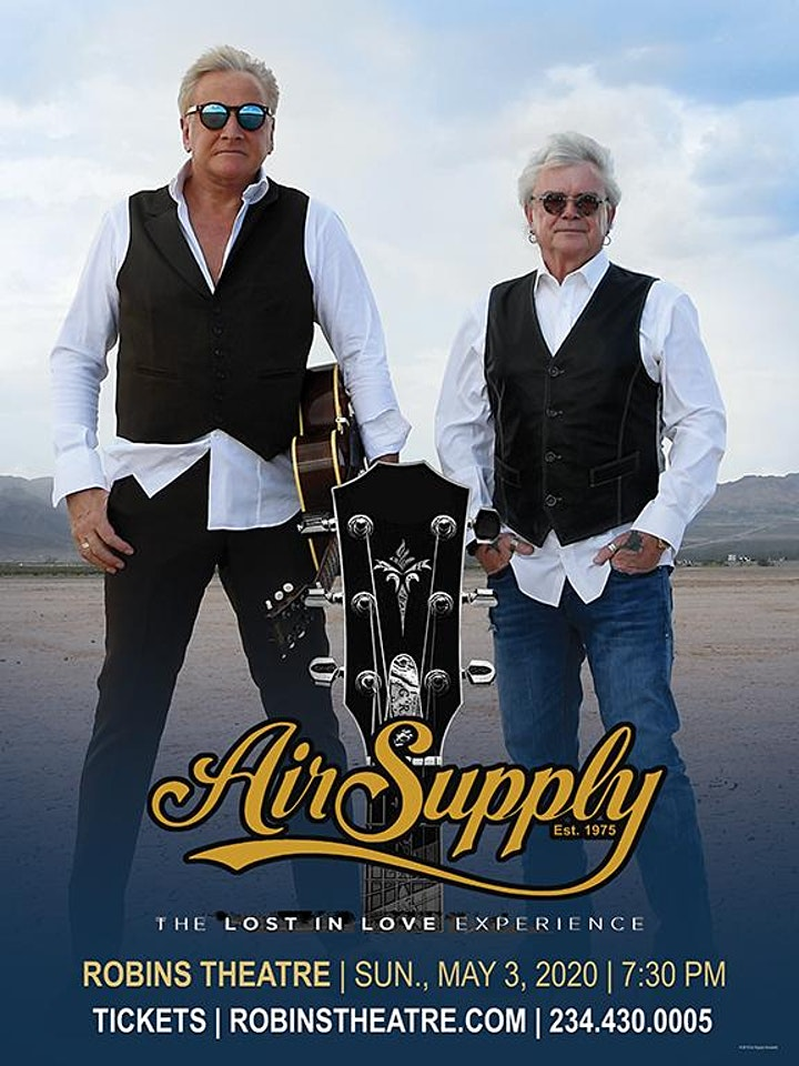 Air Supply - NEW DATE - JULY 8th image